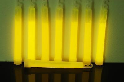 DirectGlow 12 Count Yellow Jumbo 6 Inch Glow Sticks 12+ Hour - Giant Glow Sticks