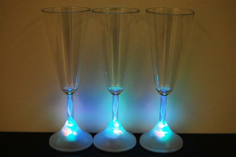 8 Mode Color Changing LED Champagne Glass- Fast USA Shipping!