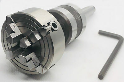 Live Revolving Tailstock With 3 Jaw Self Centering Lathe Chuck 70mm Mt1 Shank