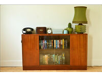 vintage sideboard bookcase teak mid century danish design by Morris of Glasgow