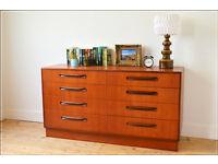 vintage teak genuine G Plan Fresco chest of drawers sideboard danish design tv stand