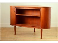 sideboard drinks cabinet teak vintage mid century made in Denmark
