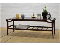 vintage retro coffee table with magazine rack danish design COLLECTION ROSLIN