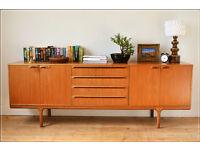 vintage sideboard genuine McIntosh teak danish design mid century tv stand