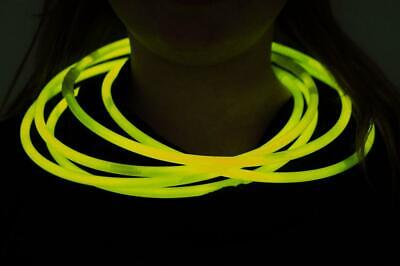 DirectGlow 50ct Yellow 22 inch Glow Necklaces with Preattached Connectors
