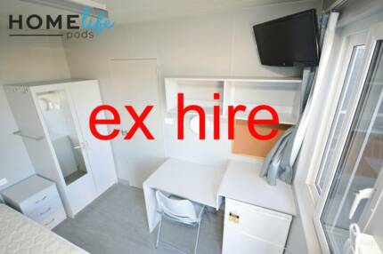 EX HIRE. 4 person transportable building. 2013 model