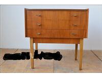 sewing box sewing table Vintage retro mid century danish design teak