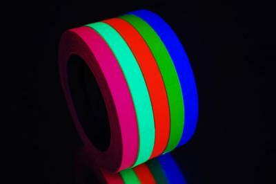 Half Inch UV Blacklight Reactive Fluorescent Gaffer Tape 1 Roll x 25 yds (Blacklight Reactive)