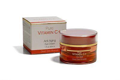 PURE VITAMIN C+ Anti Aging EYE Cream Dead Sea Minerals ( 1 oz / 30 mL ) NIB