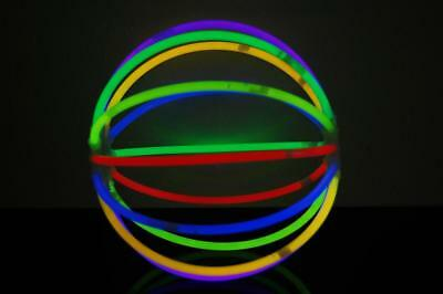 Set of 12 Assorted Glow Stick Balls - 144 glow sticks + 24 ball connectors