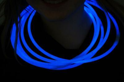 DirectGlow 150ct Blue 22 inch Glow Necklaces with Preattached Connectors