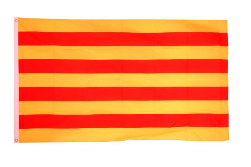 Catalonia Flag Large 5 x 3 FT - Catalunya Spain Barcelona Separatist Catalan