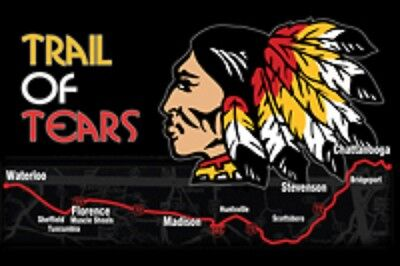 RUMBLING PRIDE TRAIL OF TEARS MOTORCYCLE FLAG  6X9 MADE IN USA