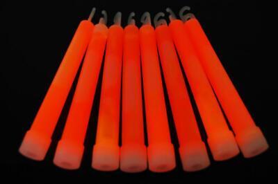 DirectGlow 50 Count Orange Jumbo 6 Inch Glow Sticks 12+ Hour Glow (Orange Glow Sticks)