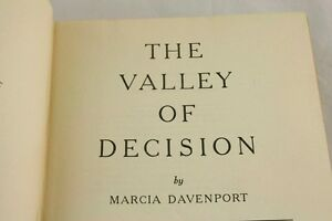 The-Valley-Of-Decision-By-Marcia-Davenport-1944-Charles-Scribners-Sons-u3o44