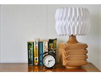 vintage table lamp side lamp designer Cari Zalloni floor lamp porcelain full working order VGC