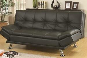 Faux Leather futon sleeper sofa (TI11)
