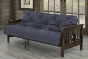 Futon with solid wood arms ( no mattress) (TI12)