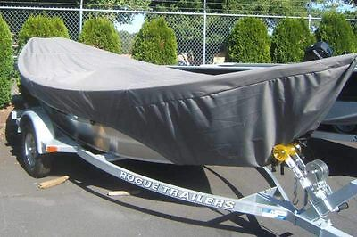 "8oz SPECIALTY BOAT COVER FOR DRIFT BOAT WITH BRA 15'-16' 84"" BEAM TRAILERABLE"