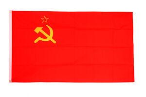 USSR Flag 3 x 2' - Soviet Union Communist Socialist Russia Hammer Sickle