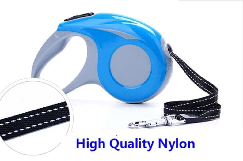 Dog Leash Retractable Walking Collar For Small Pet with Lock Nylon 16 Ft US Dog Supplies