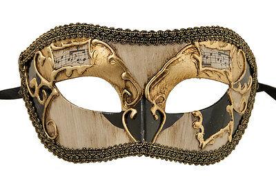 Mask Venice Colombine Golden Black-Costume-Party-Bal- 1938 -v82b