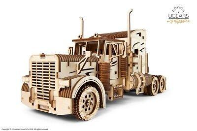 Ugears 70056 Truck Schwerer Lkw-diy Modell-einzigartige Geschenkidee-vm-03 Lastkraftwagen Mit Fahrerhaus – Umweltfreundliches Sperrholz-kein Kleber Nötig Modellbausatz Aus Holz,
