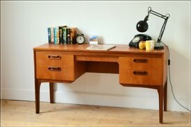 desk teak mid century vintage danish design William Lawrence VGC