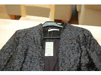 Women's Black Sequin Jacket. Brand New With Tags