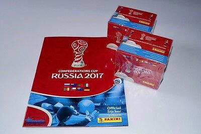 PANINI Confederations Cup 2017 Russia - empty album + 2 box 100 packets new