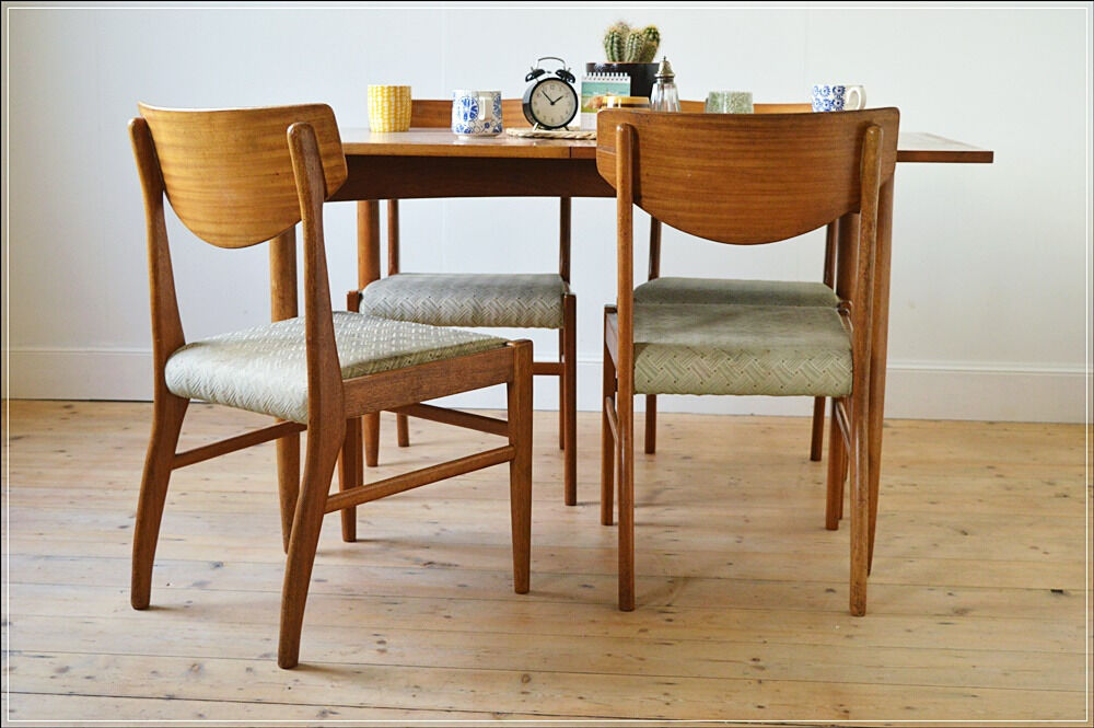 Vintage Dining Chair Chairs Teak Set Of 4 By Morris Glasgow Danish Design Mid Century