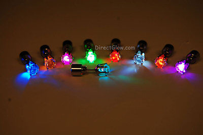 - LED Light Up Assorted Post Stud Earrings- Fast USA Shipping
