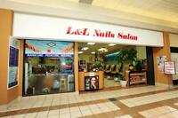 L& L  NAILS SALON in Stanley Park Mall