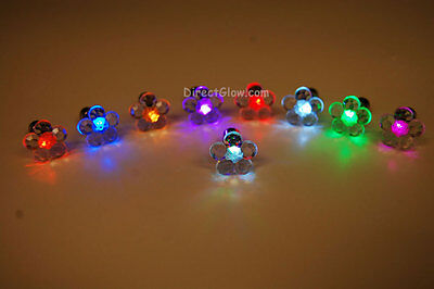 LED Light Up Assorted Flower Stud Earrings- Fast USA Shipping