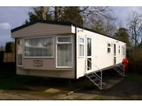 haggerston Castle Luxury caravan for hire. GCH Double ensuite. Bathroom with full bath!