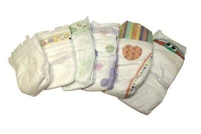 50 St. Babywindeln Gr 1 New Born bis 5 kg TESTPACKUNG lose B-Ware Einwegwindel
