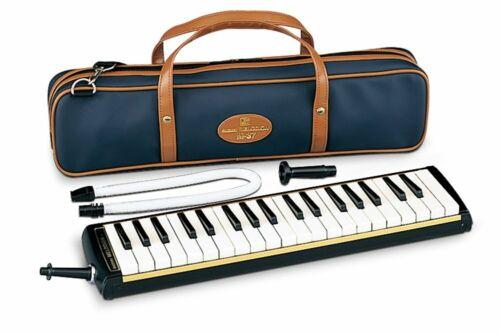 SUZUKI M-37C Melodion Alto Wind Keyboard Harmonica Bundle Soft Case New
