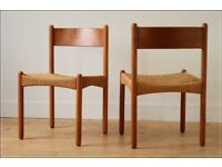 dining chair chairs solid teak vintage danish design set of 4 mid century