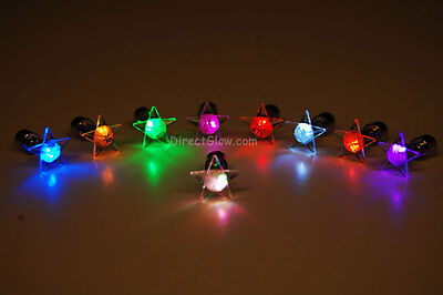 LED Light Up Assorted Star Stud Earrings- Fast USA Shipping