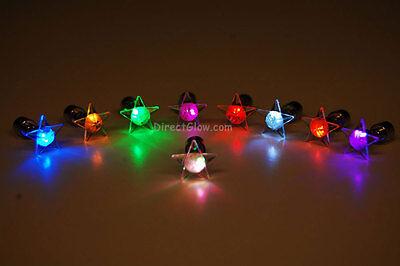 LED Light Up Assorted Star Stud Earrings- Fast USA Shipping - Light Up Earrings