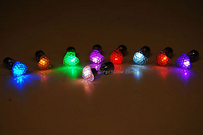 LED Light Up Assorted Heart Stud Earrings- Fast USA Shipping