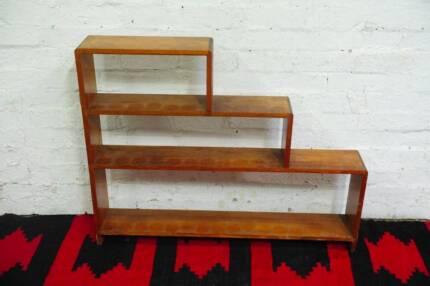 Vintage 3 Tier / Stepped Timber Bookcase Bookshelf Art Deco Retro Brunswick Moreland Area Preview