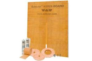 Schluter Systems Kerdi Board Waterproof Shower Kit, Model KBKIT (Kerdi Board Panes, Band, Seals, Fix, Washers & Screws)