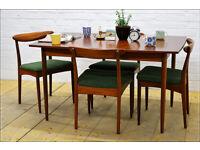 Vintage teak dining table ONLY Greaves & Thomas mid century danish design