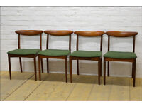 Vintage Teak Dining Chairs ONLY set of 4 Greaves & Thomas Danish Design Mid Century