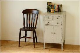 cupboard painted distressed storage unit retro sideboard solid wood