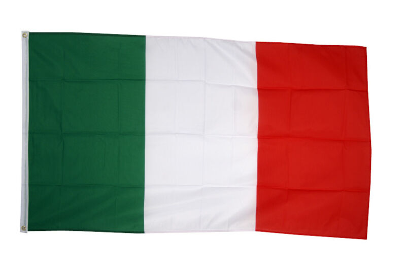 Italy Flag 3 x 2 FT  Country 100% Polyester National Europe White Red Green