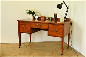 vintage Edwardian desk writing table laptop secretary desk bureau antique retro