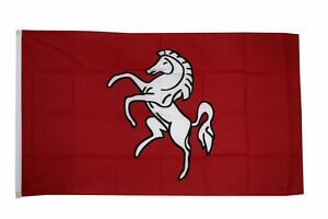 Kent Large Flag 5 x 3 FT - 100% Polyester With Eyelets English County