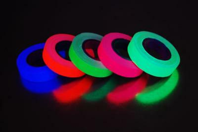 5 Pack Half Inch UV Blacklight Reactive Fluorescent Gaffer Tape 5 Rolls x 6 Yds (Blacklight Reactive)